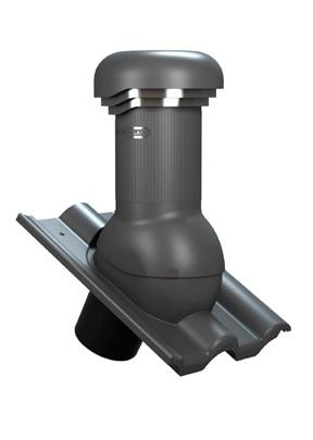 Větrací komínek TILE PRO 125 pro Bramac - Turmalín, s odvodem kondenzátu