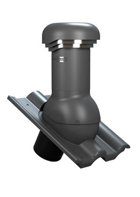 Větrací komínek TILE PRO 125 pro Roben - Piemont, s odvodem kondenzátu