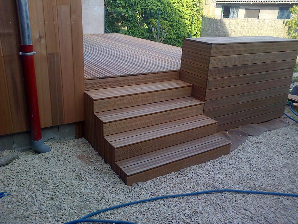 Terasov modulov zahradn schody do ter nu nebo na ter e for Dosage beton pour escalier exterieur