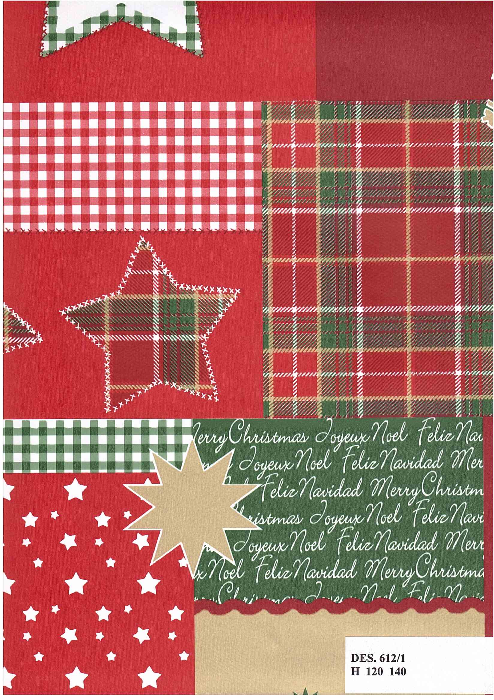 PVC ubrus Vánoční červený sobl / metráž s textilním podkladem