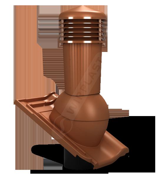 Větrací komínek TILE PLUS 125 / Bramac Turmalin